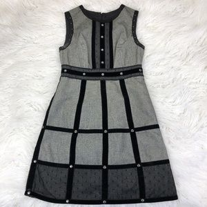 Anna Sui Size 1 Black Gray Shift Dress